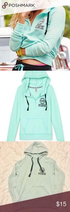 VS PINK Mint hoodie Size small. I discount bundles PINK Victoria's Secret Tops Sweatshirts & Hoodies