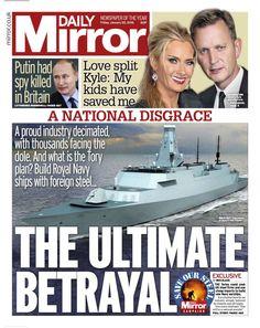 Daily Mirror Navy Ships, January 2016, Royal Navy, Betrayal, Britain, Friday, How To Plan, Mirror, Face