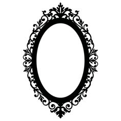Ornate Oval Frame Wall Stickers / Wall Decals | eBay