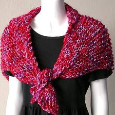 Party Triangle Knit Stole with Kid Merino - free knitting pattern from Crystal Palace Yarns
