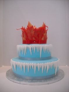 Fire & Ice Wedding Cake