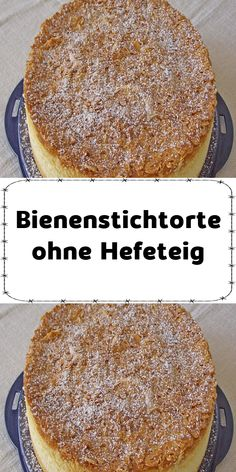 Ingredients 5 egg (s) 250 g sugar 250 g flour 125 ml water 125 ml oil 1 pack vanilla sugar 1 pack baking powder For the . Easy Cake Recipes, Cookie Recipes, Bee Sting Cake, Sour Cream Cake, Dough Ingredients, Homemade Donuts, Traditional Cakes, New Cake, Cake & Co