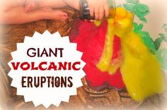 A FUN twist on the classic vinegar and baking soda experiment- GIANT VOLCANIC ERUPTIONS in the bath!! Easy clean up too!
