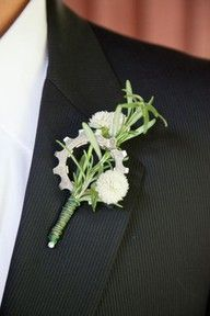 Somehow, I must make this boutonniere happen. A miniature bike sprocket- Ian would DIE.