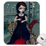 """Wolves of Venice"" Mousepad by strangeling  Jasmine Becket-Griffith"