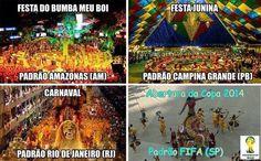 Comparação: abertura da Copa (Foto: Reprodução)