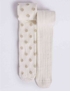 2 Pairs of Cotton Rich Freshfeet™ Tights (18 Months - 14 Years)