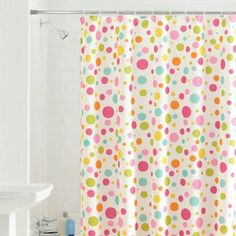 Mainstays Bright Dots Fabric Shower Curtain Multi Color