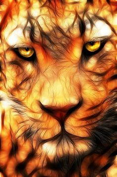 fractal animal | Lion fractal | Cool Pictures and Posters, people and animal style