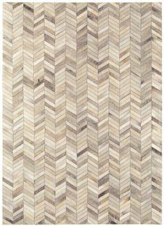 Fußboden Teppich Lederteppich 100% Leder Carpet Design GAUCHO RUG 120x170 cm Grau/Beige Winkel: Amazon.de: Küche & Haushalt