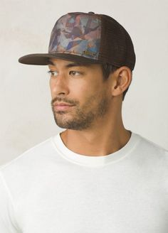 d033fbce The Vista Trucker Hat features your choice of natural scenery.
