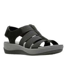 bf38f9564fb CLARKS CLARKS WOMEN S ARLA SHAYLIE SLINGBACK BLACK ELASTIC SIZE 9.5 M.   clarks  shoes