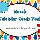 March Calendar Cards Freebie!     I've included the following extra cover- up cards:   Stars  Dr. Seuss' birthday  Special day (birthday)  St. Patrick's ...