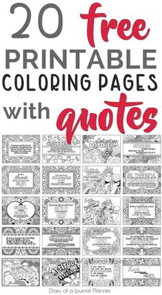 Printable Quote Coloring Pages FREE Coloring Quotes!) - Don't know how to make your own coloring pages with words printable? Quote Coloring Pages, Coloring Pages Inspirational, Free Coloring Pages, Coloring Books, Alphabet Coloring, Kids Coloring, Inspirational Quotes, Coloring Pages For Grown Ups, Printable Adult Coloring Pages