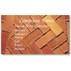 BRICK ABSTRACT BUSINESS CARD, by The Flying Pig Gallery on Zazzle (lizadeyphoto) - This Brick Abstract Business Card can be used for Architects, Contractors, Stonemasons and many other kinds of businesses. Text may be customized according to your needs.