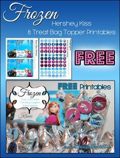 Disney's Frozen Valentine's Day Kisses Treat Bag Printables ~ FREE