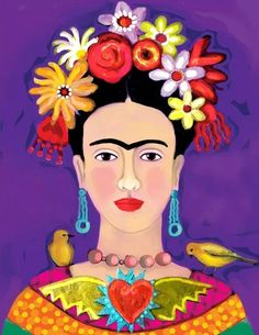 Viva la Vida Freida Kahlo, Arte Latina, Kahlo Paintings, Frida Art, Mexican Folk Art, Art Plastique, Painting Inspiration, Pop Art, Art Drawings
