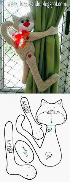 Mi Fiesta Creativa: Crea estos sujetadores de cortina con estos moldes