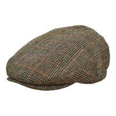 b7f45f998 Wrapeezy Dark Brown Herringbone Newsboy 8 Panel Baker Boy Tweed Flat ...