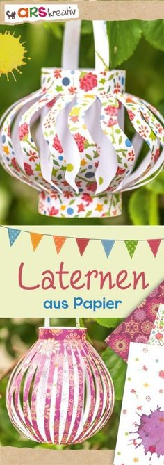 Kinderbücher, Geschenke, Kalender und Inspirationen aus dem Verlag arsEdition f… Children's books, gifts, calendars and inspirations from the publishing house arsEdition for the big and small moments in life. Crafts For Teens To Make, Crafts For Seniors, Diy For Teens, Kirigami, Diy Paper, Paper Crafts, Easy Crafts, Diy And Crafts, Lantern Crafts