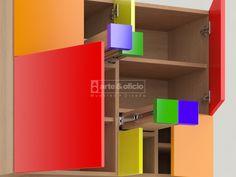 Arte & Oficio, Sutileza en el diseño y los detalles..!!! Mueble Aparador Fibonacci Colores..!! Detalle Interior 2, (Las matemáticas como punto de partida del Diseño): Φ = (1+√5) /2 Showroom Arte & Oficio: Olazabal 4710 | Villa Urquiza | CABA.- Coordinar Cita Previa llamando al 15-4097-6325 http://arteyoficio.com.ar/aparador_fibonacci.htm