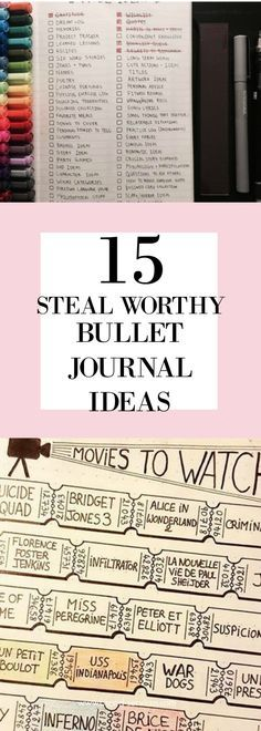 15 bullet journal ideas