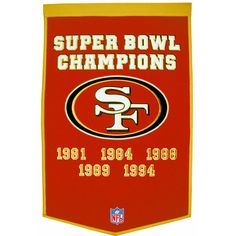 San Francisco 49ers NFL Dynasty Banner (24x36)