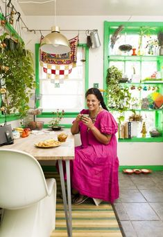 Justina's in the Kitchn, features her gorgeous self along with her Jungalow & Boho home!