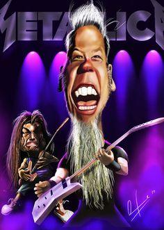 Arte Heavy Metal, Heavy Metal Bands, Bruce Campbell, Chuck Norris, Sylvester Stallone, Sophia Loren, Funny Face Drawings, John Lennon, Metallica Art