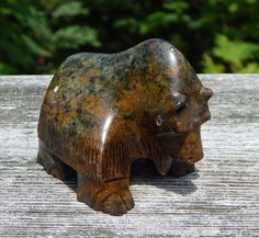 Inuit Art soapstone Carving MAMMOTH , signed about inches Alaskan Brown Bear, Garden Sculpture, Lion Sculpture, Soapstone Carving, Kitchen Canister Sets, Inuit Art, Turquoise Glass, Red Accents, Vintage Flowers