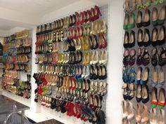 Mesh wire = a cost effective shoe storage solution