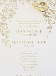 Classic gold invitations: Photography: Karen Hill Photography - karenhill.com