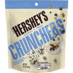 Hershey's Cookies N' Creme Crunchers, oz. Hershey Cookies, Chocolate Cookies, Reese's Chocolate, Chocolates, Hershey's Cookies N Cream, Snacks Under 100 Calories, Chocolate Packaging, Easy Snacks, Clean Eating Snacks