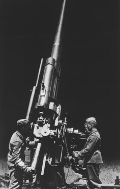 The 88mm Flak 37 ready for heavy anti-aircraft fire during night. One of the most successful guns of the war, the 88 mm flak gun was widely used in both an anti-tank and anti-aircraft role.