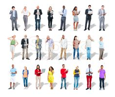 Diverse group of people use digital devices – lizenzfreie Stock-Fotografie