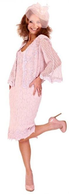 Pretty pink mother of the bride outfit #wedding