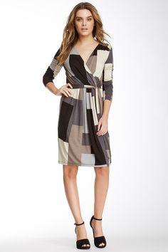 Faux Wrap Pleated Dress on HauteLook