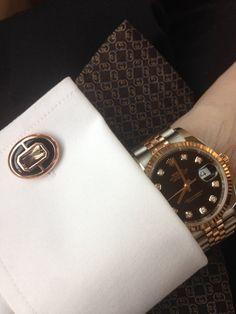 Smoky Quartz + Black Onyx Sterling Silver Cufflinks | Elite & Luck - Luxury Gemstone Sterling Silver Cufflinks for Men