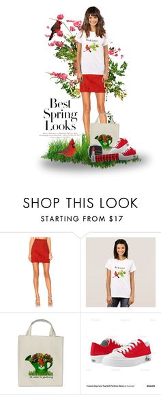 Red and White Spring Outfit by sgolis on Polyvore featuring AYNI, Zipz, H&M and MINX