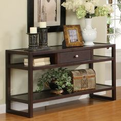 Furniture of America Hilda Blaine Sofa Table - Espresso