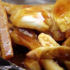Chuck's Awesome Poutine* Fries with gravy and cheese curds