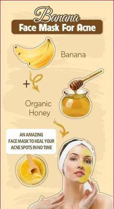 Homemade Face Masks, Homemade Skin Care, Homemade Facials, Face Mask For Pores, Banana Face Mask, Coffee Face Mask, Avocado Face Mask, Beauty Tips For Glowing Skin, Healthy Skin Care