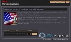 DarkNet Passports | The Latest Oddities Dark Net, First Site, Birth Certificate, Passport, How To Become
