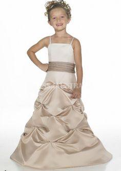 Cheap and Australia Pick-up Full Skirt Spaghetti Straps Junior Bridesmaid Dresses from Dresses4Australia.com.au
