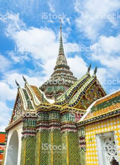 Colourful Temple Of Emerald Buddha Bangkok Thailand Stock Photo & More Pictures of Ancient Bangkok Hotel, Bangkok Travel, Bangkok Thailand, Thailand Travel, Thailand Photos, More Pictures, Architecture Details, Barcelona Cathedral, Big Ben