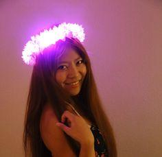 LED flower crown/floral headband light up flower by LUMiLtd