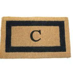 """Three Posts Straub Monogram Fiber Doormat Size: 18"""" x 30"""", Letter: U"""
