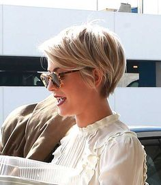 Blonde Pixie Style More