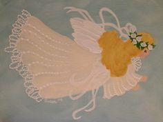 Angel.  One Stroke Painting by Susan Earl.
