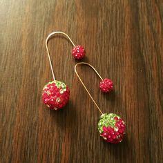 Strawberry Earrings Unique drop earrings. Brand new/never worn! Jewelry Earrings